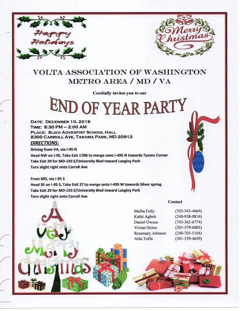 Christmas party invitation volta assocation end of year party stopboris Choice Image